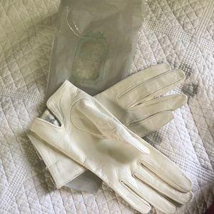 Christin Dior genuine real leather gloves